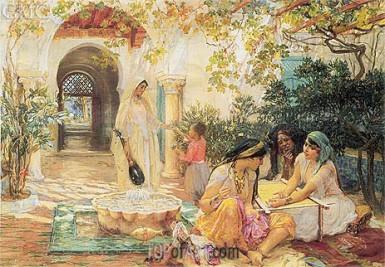 Femmes dans le patio