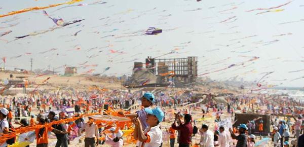 Cerfs volants enfants Gaza