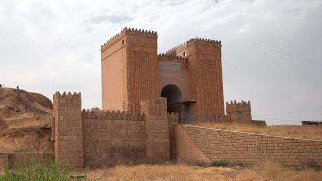 «Porte Mashki», près de la ville de Mossoul, en Irak