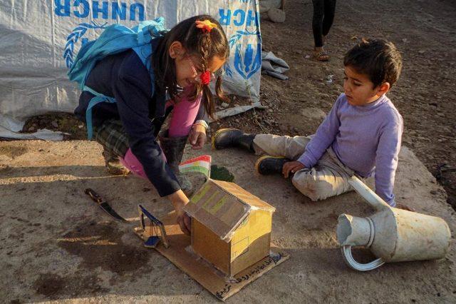 Camp réfugiés Photo par Reza