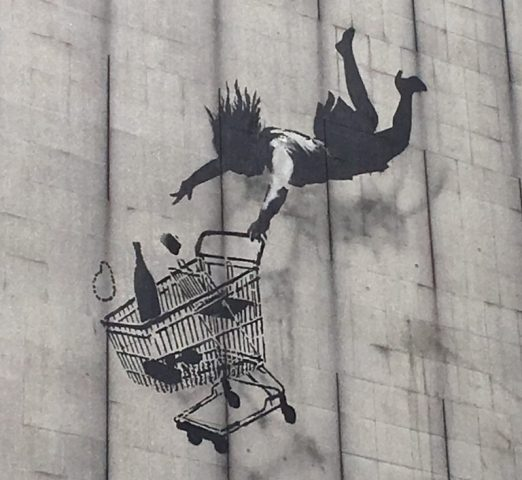 London-Street-Art_Banksy-Artist_A-woman-and-her-shopping-trolley-falling-from-a-great-height-e1496159984922[1]