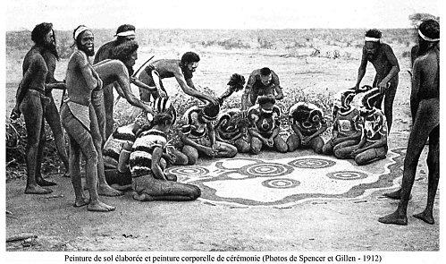 peinture de sol cérémonie