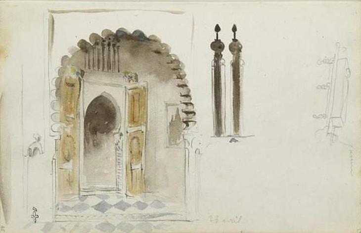 architecture_delacroix_maroc aquarelle maison mauresque[1]