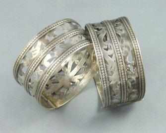 Bracelets argent filigranés