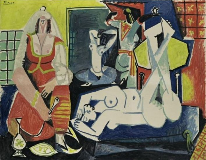 Picasso femmes d'alger version J Pinterest