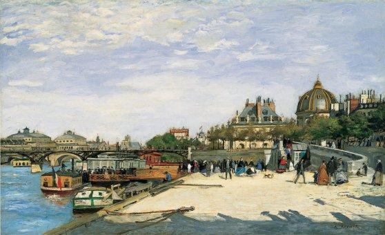 Le pont des Arts Paris - Auguste Renoir