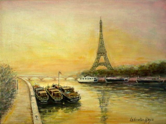 Paris-les-quais-de-seine-Le Breton Hays, artmajeur