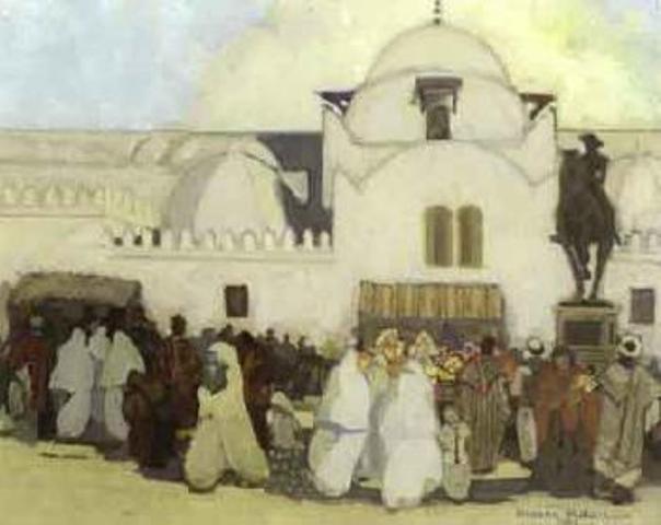 4-Abdelhalim Hemche Place du Gouvernement, Alger by Blouin Art sales 1906-1978