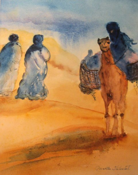 Aquarelle (désert) Marthe Thiboutot Pinterest2