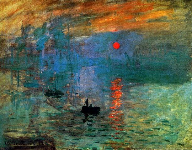 Monet-Claude-Impression-sunset-Sun artmight.com