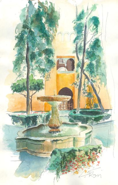 Alhambra de Grenade, patio jaune 2Catherine Rossi-Artmajeur 2