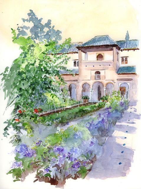 Alhambra Generalife_Granada Catherine Rossi Artmajeur