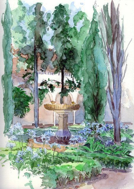 Alhambra_patio_Palacio_nazari_Catherine Rossi Artmajeur