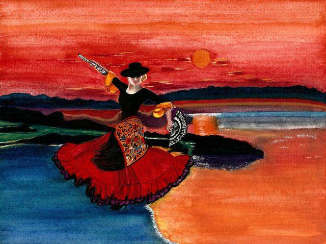 Balade au crépuscule en Andalousie Artmajeur