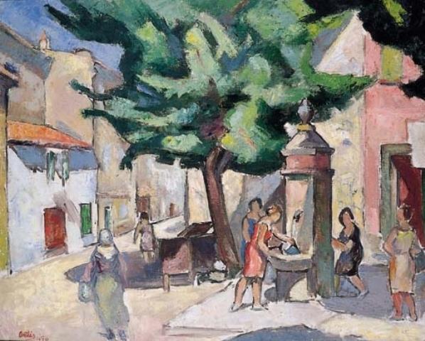 Femmes à la fontaine Ortis@Mutualart