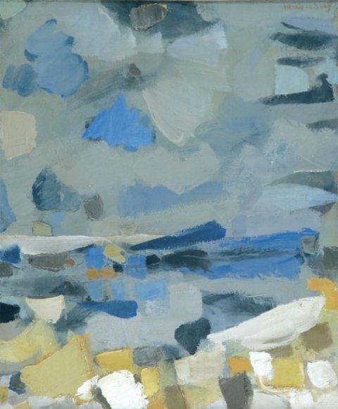 Manolis Calliyannis-Ciel gris-Azur enchères Cannes