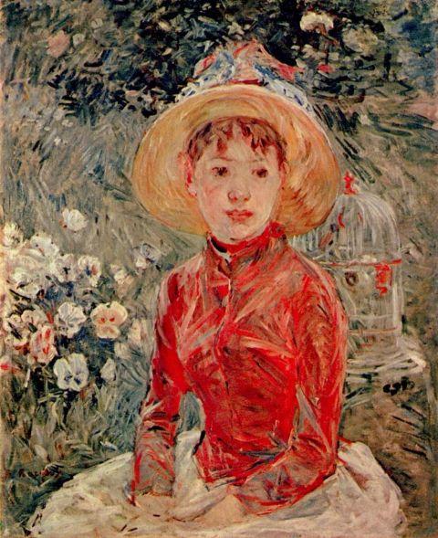 Berthe Morisot Le corsage rouge 1885