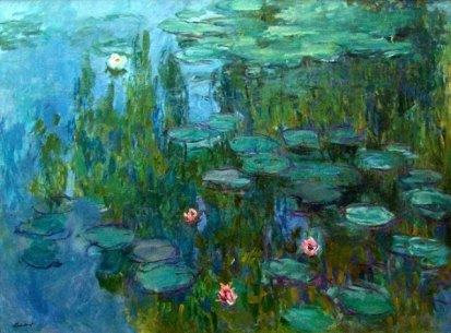 Claude Monet Nympheas waterlilies 1915 Art now and then