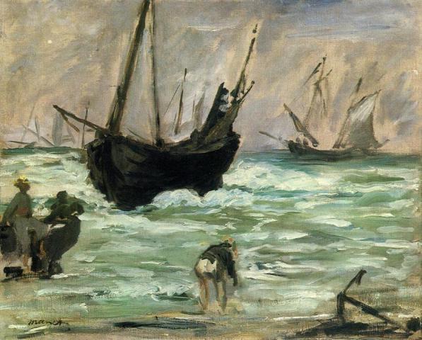 Edouard-Manet-1832-1883Seascape-Paysage marin1873@fr.wahooart.com