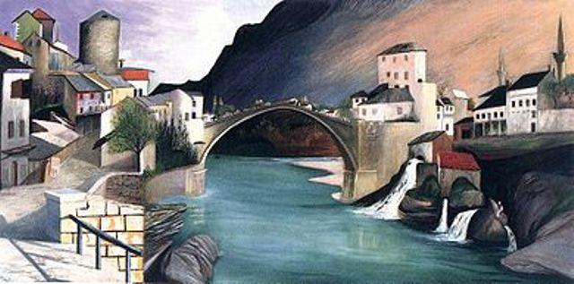 Pont romain à Mostar (Római híd Mosztarban, 1903) (1903)wikipedia