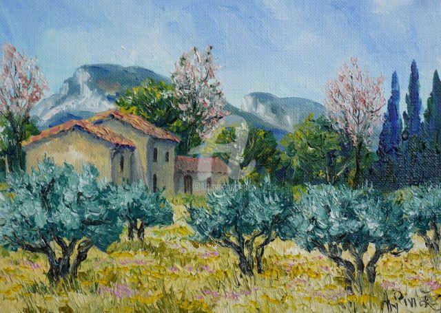 Annie Rivière-Mas en Provence dans les Alpilles-Artmajeur2