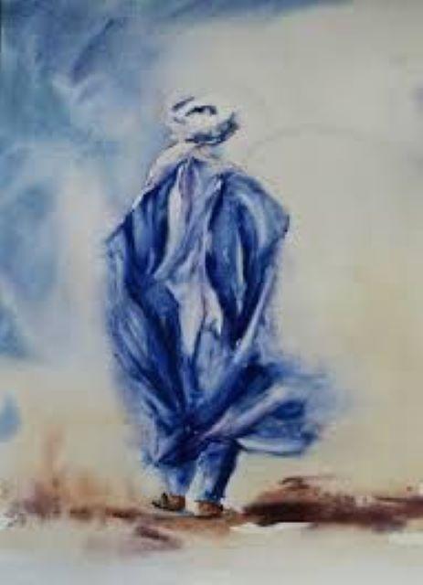 Farid Ladjimi Touareg homme bleu